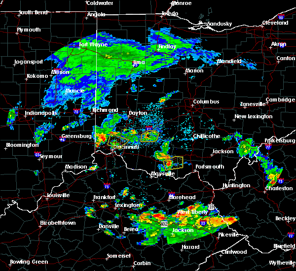 Radar Image for Severe Thunderstorms near Cincinnati, OH at 8/15/2016 5:44 PM EDT