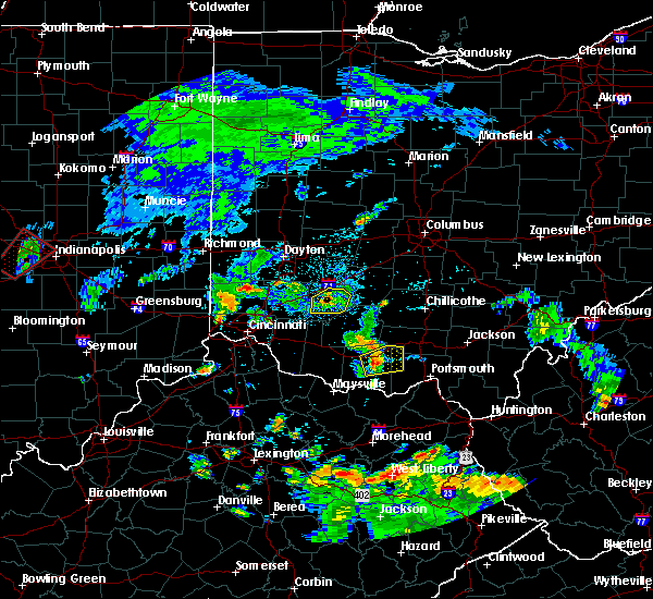 Radar Image for Severe Thunderstorms near Wilmington, OH at 8/15/2016 5:53 PM EDT