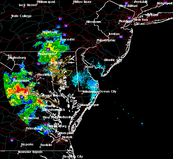 Radar Image for Severe Thunderstorms near Rock Hall, MD at 8/15/2016 7:33 PM EDT