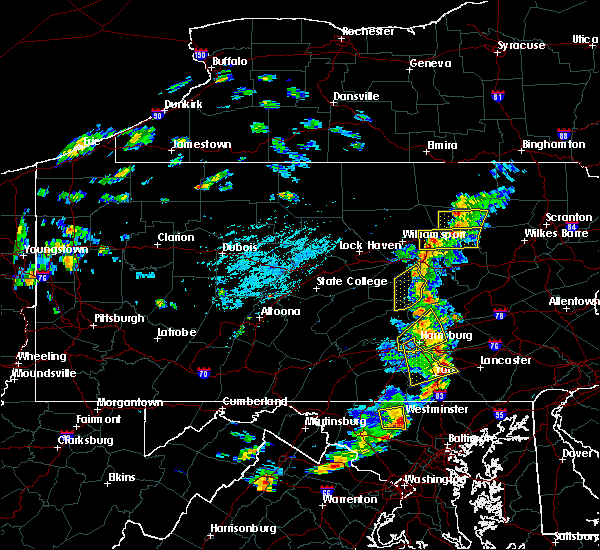 Radar Image for Severe Thunderstorms near Hershey, PA at 8/16/2016 4:00 PM EDT