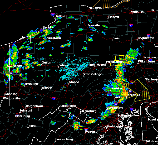 Radar Image for Severe Thunderstorms near Gordon, PA at 8/16/2016 4:31 PM EDT
