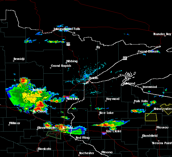 Radar Image for Severe Thunderstorms near Chickamaw Beach, MN at 8/16/2016 5:43 PM CDT