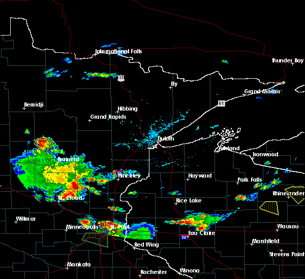 Radar Image for Severe Thunderstorms near Chickamaw Beach, MN at 8/16/2016 5:49 PM CDT