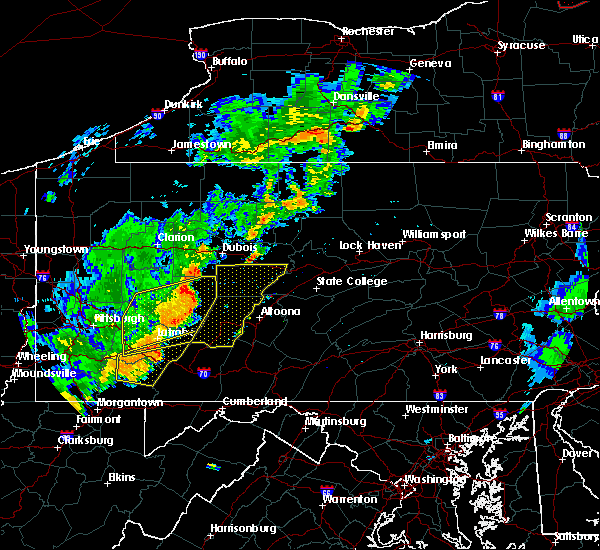 Radar Image for Severe Thunderstorms near Youngstown, PA at 8/16/2016 6:55 PM EDT