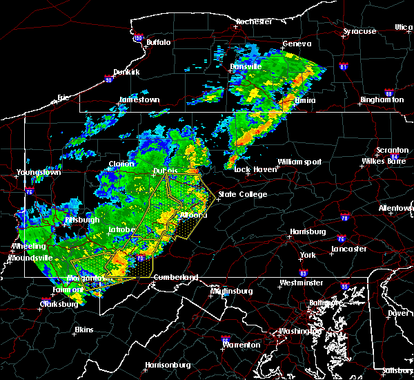 Radar Image for Severe Thunderstorms near Dunlo, PA at 8/16/2016 7:57 PM EDT