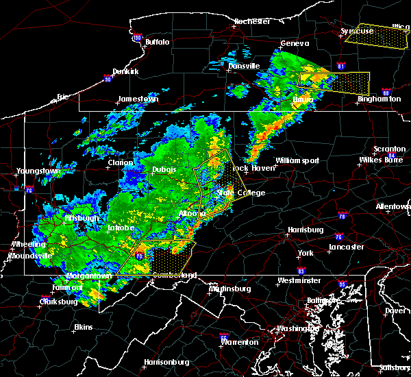 Radar Image for Severe Thunderstorms near Howard, PA at 8/16/2016 8:25 PM EDT