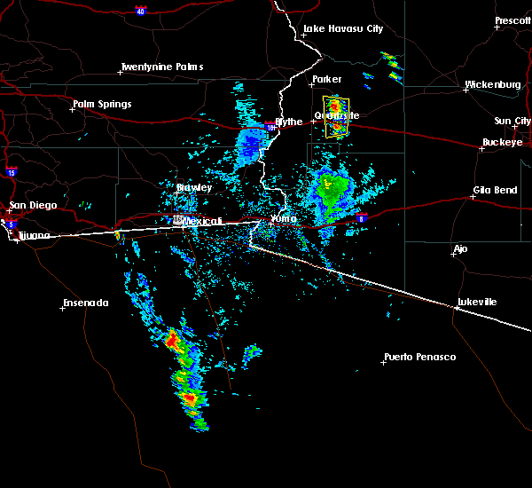 Radar Image for Severe Thunderstorms near Bouse, AZ at 8/17/2016 3:24 PM MST