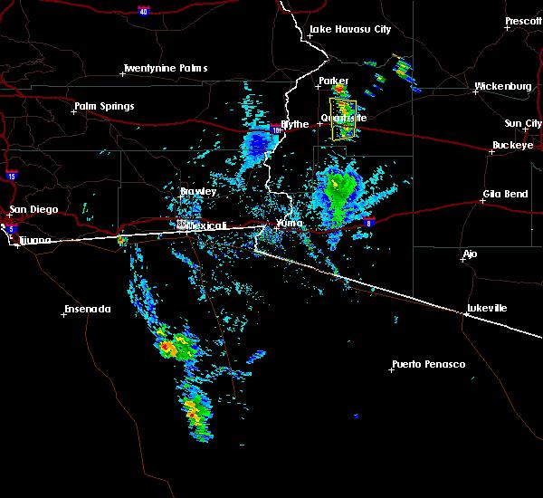 Radar Image for Severe Thunderstorms near Bouse, AZ at 8/17/2016 3:42 PM MST