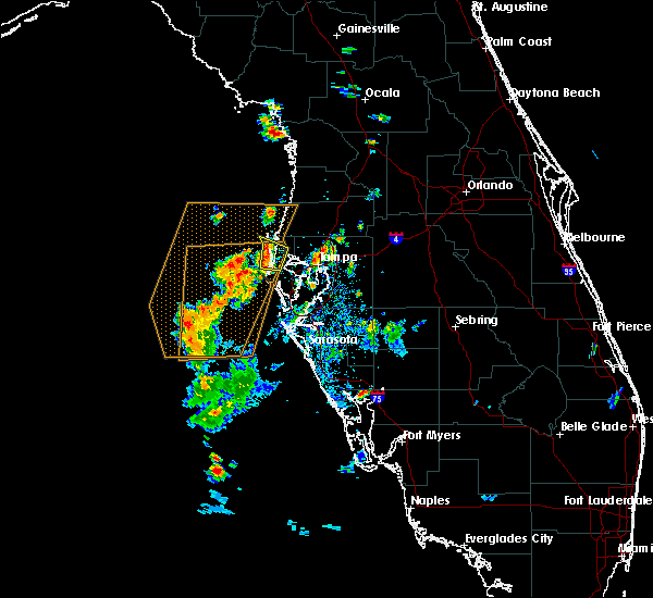 Radar Image for Severe Thunderstorms near Clearwater, FL at 8/17/2016 8:05 PM EDT
