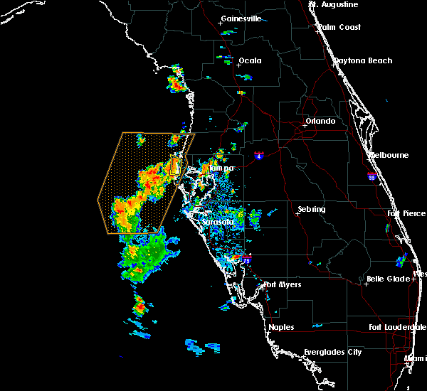 Radar Image for Severe Thunderstorms near Clearwater, FL at 8/17/2016 8:09 PM EDT