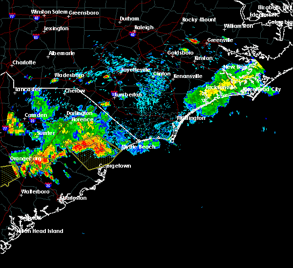 Radar Image for Severe Thunderstorms near Myrtle Beach, SC at 8/18/2016 5:07 PM EDT