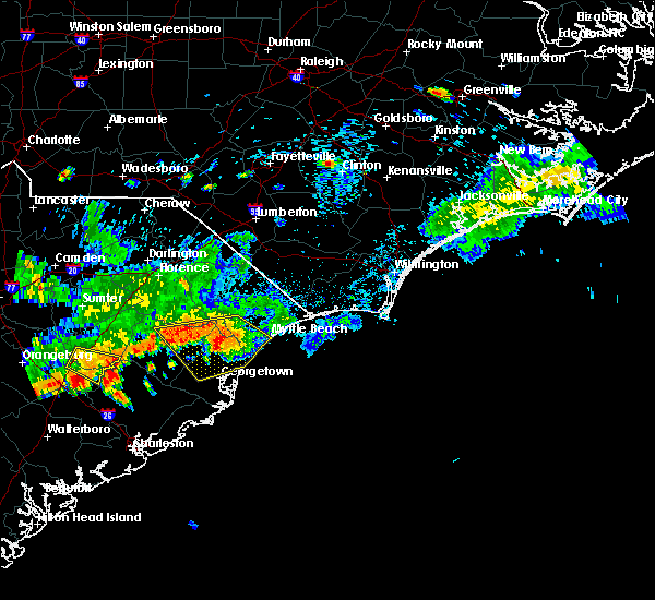 Radar Image for Severe Thunderstorms near Murrells Inlet, SC at 8/18/2016 5:25 PM EDT