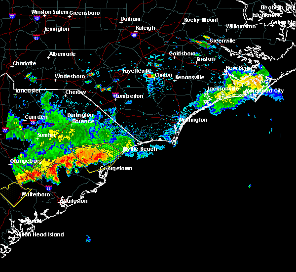 Radar Image for Severe Thunderstorms near Murrells Inlet, SC at 8/18/2016 5:44 PM EDT