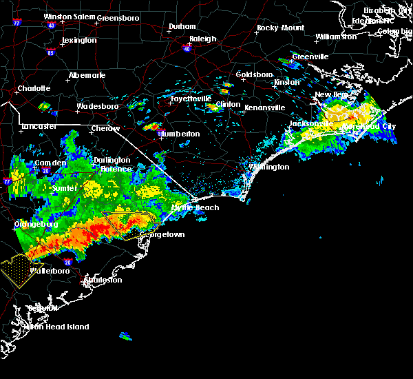 Radar Image for Severe Thunderstorms near Murrells Inlet, SC at 8/18/2016 5:59 PM EDT