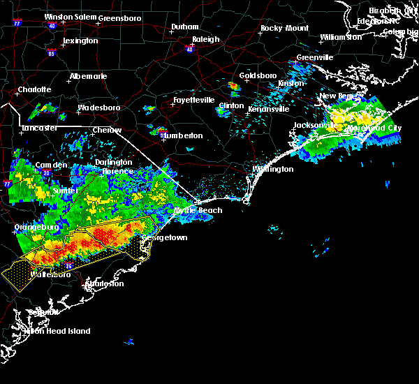 Radar Image for Severe Thunderstorms near Murrells Inlet, SC at 8/18/2016 6:18 PM EDT