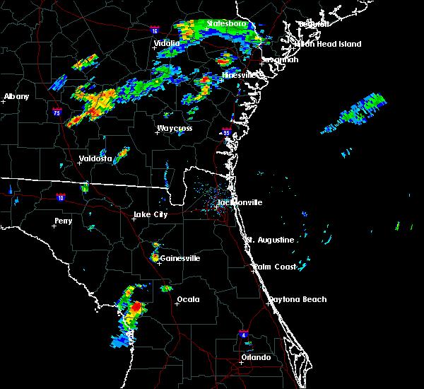 Radar Image for Severe Thunderstorms near Williston Highlands, FL at 8/18/2016 7:19 PM EDT