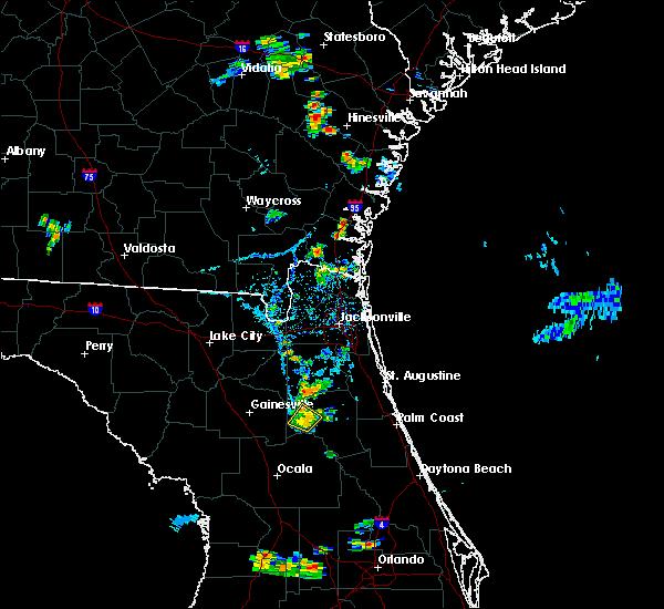 Radar Image for Severe Thunderstorms near Interlachen, FL at 8/19/2016 6:55 PM EDT