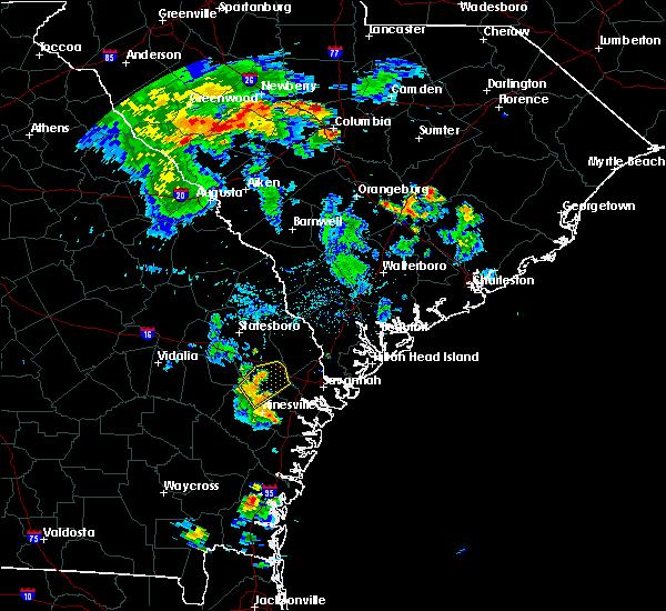 Radar Image for Severe Thunderstorms near Fort Stewart, GA at 8/19/2016 7:44 PM EDT