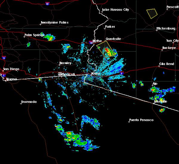 Radar Image for Severe Thunderstorms near Quartzsite, AZ at 8/20/2016 4:26 PM MST