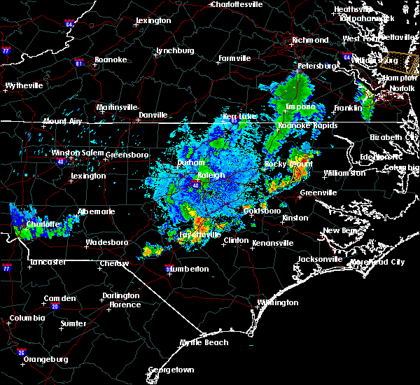 Radar Image for Severe Thunderstorms near Conetoe, NC at 8/21/2016 8:14 PM EDT
