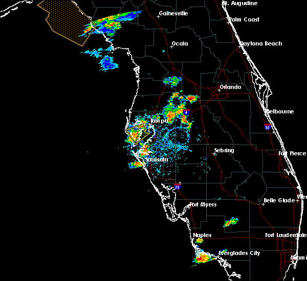 Radar Image for Severe Thunderstorms near Tampa, FL at 8/23/2016 6:44 PM EDT
