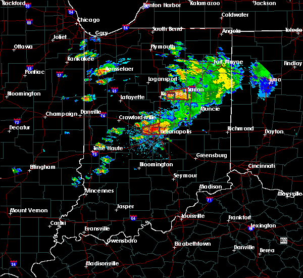 Radar Image for Severe Thunderstorms near Whitestown, IN at 8/24/2016 3:55 PM EDT