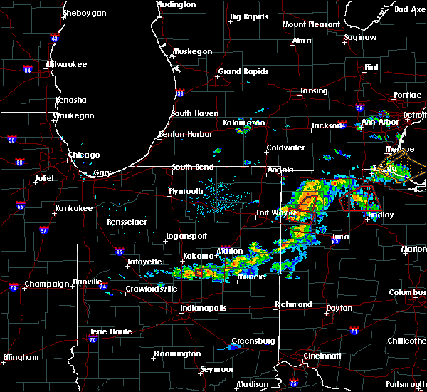 Radar Image for Severe Thunderstorms near Defiance, OH at 8/24/2016 8:45 PM EDT