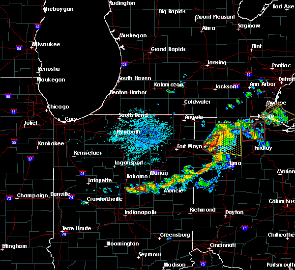 Radar Image for Severe Thunderstorms near Defiance, OH at 8/24/2016 8:57 PM EDT