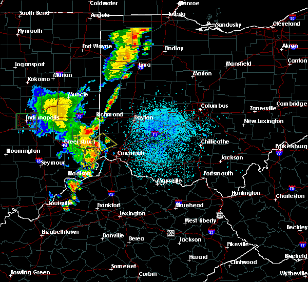 Radar Image for Severe Thunderstorms near New Lebanon, OH at 8/27/2016 2:04 PM EDT