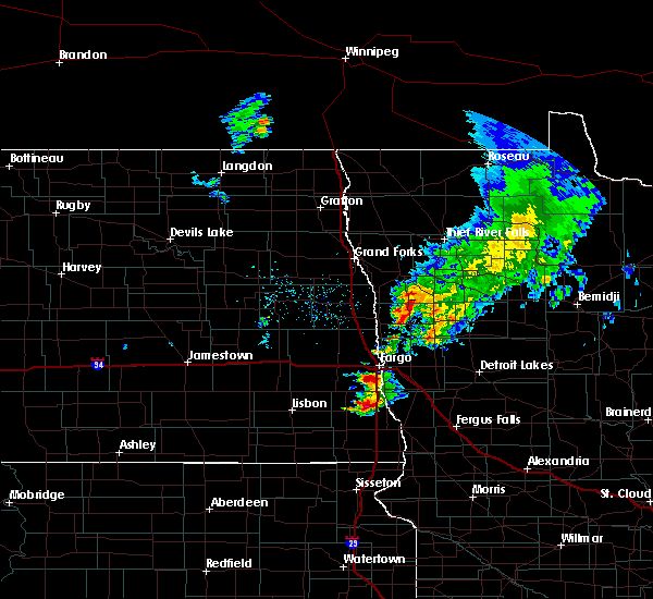 Radar Image for Severe Thunderstorms near Kent, MN at 8/27/2016 1:04 PM CDT
