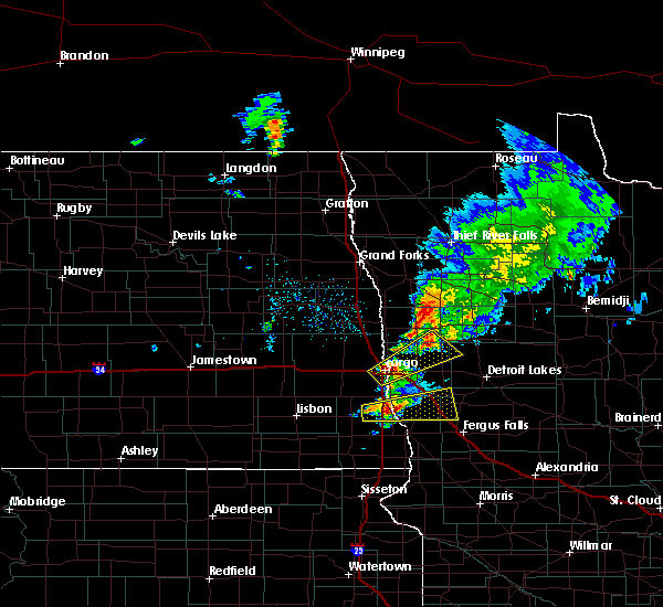Radar Image for Severe Thunderstorms near Kent, MN at 8/27/2016 1:25 PM CDT