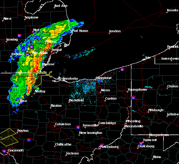Radar Image for Severe Thunderstorms near Toledo, OH at 8/27/2016 2:37 PM EDT