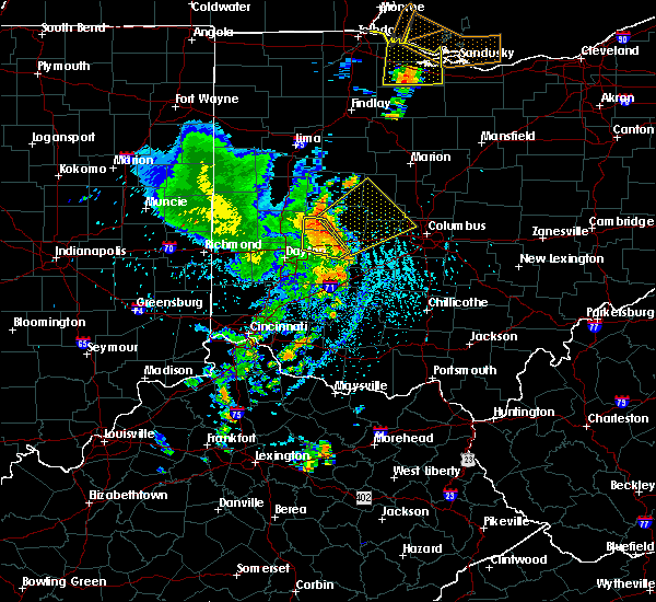 Radar Image for Severe Thunderstorms near Lafayette, OH at 8/27/2016 3:54 PM EDT