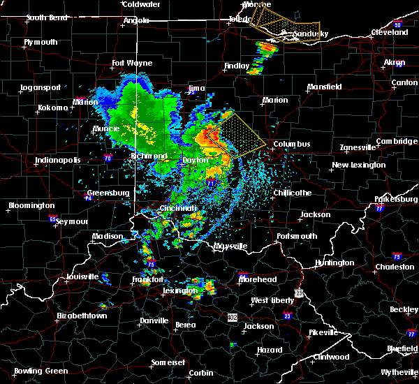 Radar Image for Severe Thunderstorms near Lafayette, OH at 8/27/2016 4:09 PM EDT
