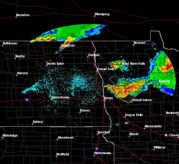 Radar Image for Severe Thunderstorms near Lake Park, MN at 8/28/2016 11:35 PM CDT