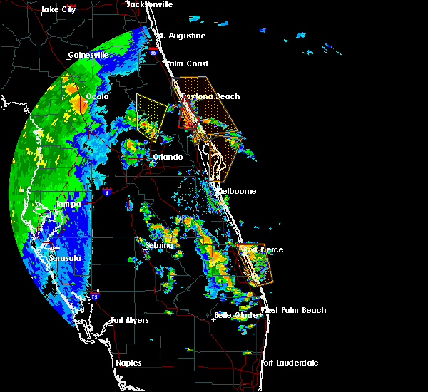Radar Image for Severe Thunderstorms near South Daytona, FL at 9/1/2016 3:44 PM EDT