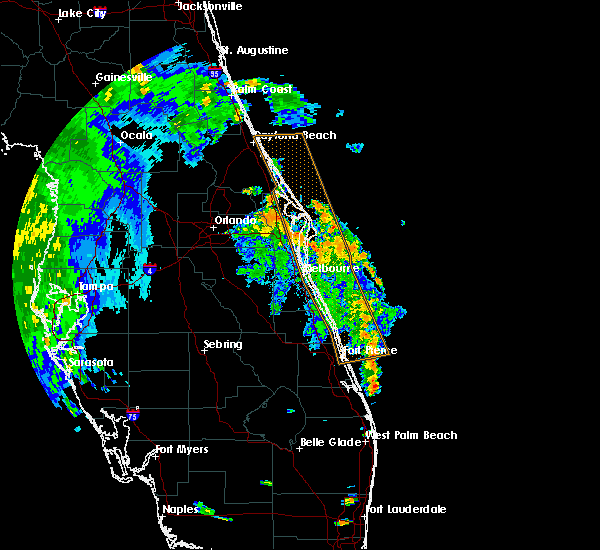 Radar Image for Severe Thunderstorms near Merritt Island, FL at 9/1/2016 4:57 PM EDT