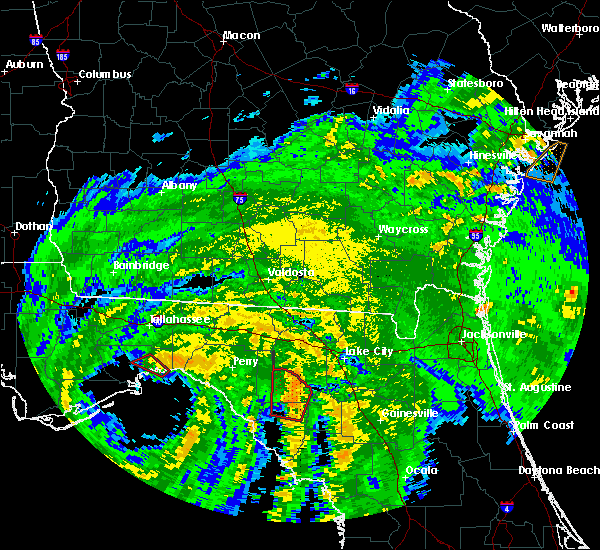 Radar Image for Severe Thunderstorms near Branford, FL at 9/1/2016 11:28 PM EDT
