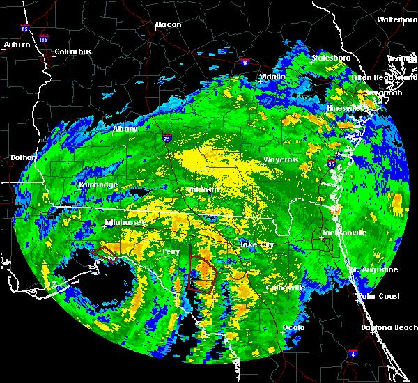 Radar Image for Severe Thunderstorms near Branford, FL at 9/1/2016 11:37 PM EDT