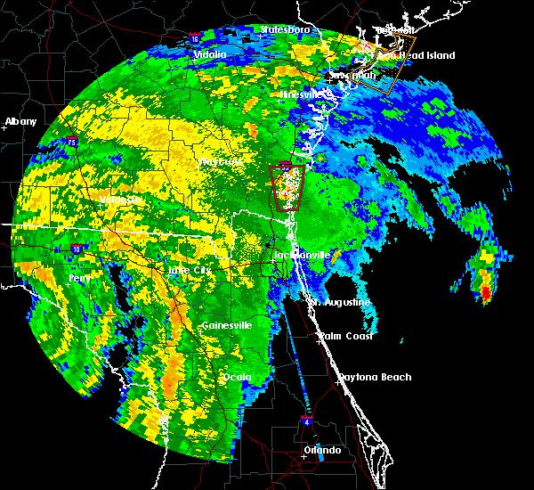 Radar Image for Severe Thunderstorms near St. Simons, GA at 9/2/2016 12:25 AM EDT