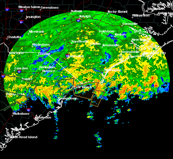 Radar Image for Severe Thunderstorms near North Myrtle Beach, SC at 9/2/2016 3:40 PM EDT