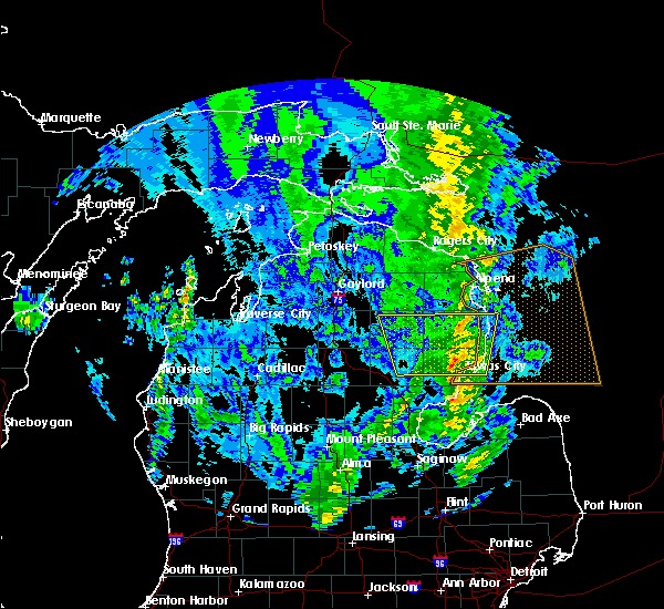 Radar Image for Severe Thunderstorms near Au Sable, MI at 9/10/2016 3:40 PM EDT