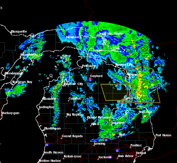 Radar Image for Severe Thunderstorms near Au Sable, MI at 9/10/2016 4:29 PM EDT
