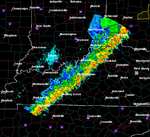 Radar Image for Severe Thunderstorms near Frankfort, KY at 9/10/2016 4:53 PM EDT