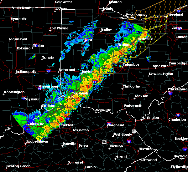 Radar Image for Severe Thunderstorms near New Albany, OH at 9/10/2016 4:56 PM EDT