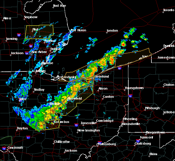 Radar Image for Severe Thunderstorms near Orange, OH at 9/10/2016 4:59 PM EDT