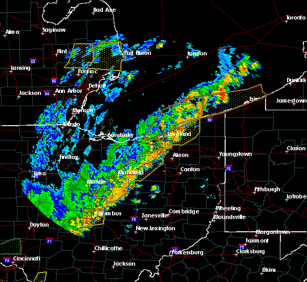Radar Image for Severe Thunderstorms near Orange, OH at 9/10/2016 5:30 PM EDT
