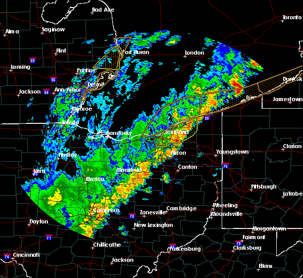 Radar Image for Severe Thunderstorms near South Canal, OH at 9/10/2016 5:58 PM EDT