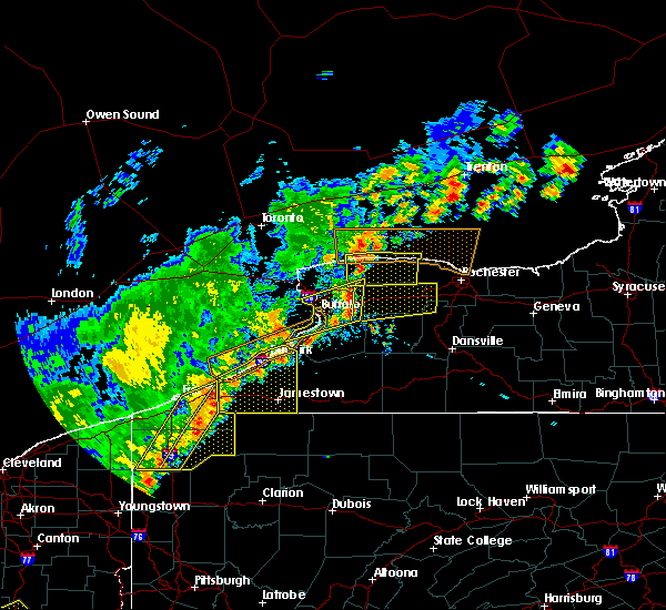 Radar Image for Severe Thunderstorms near Gowanda, NY at 9/10/2016 7:35 PM EDT