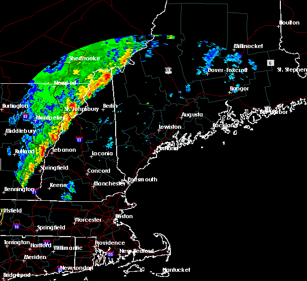 Radar Image for Severe Thunderstorms near Berlin, NH at 9/11/2016 7:54 AM EDT